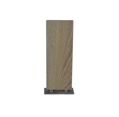 trophée bois et socle en métal