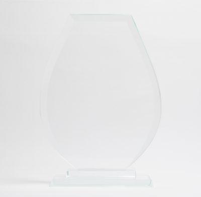 trophée en verre bords biseautés