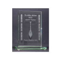 trophée verre gravure laser