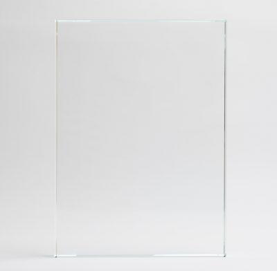 plaque en verre rectangle sans socle