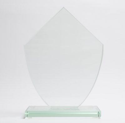 trophée en verre losange