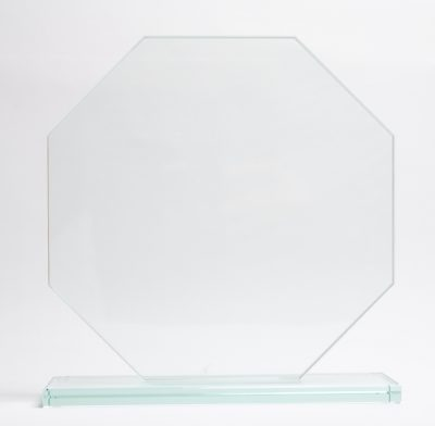 trophée verre octogonal 20 cm
