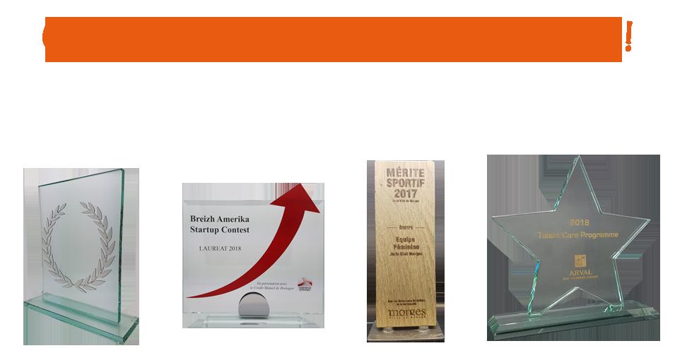 exemples de trophées personnalisés