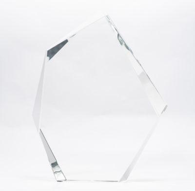 trophée prestige en cristal optique avec gravure laser ou impression couleur