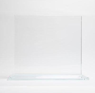 trophée verre rectangulaire avec socle