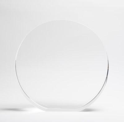 trophée verre optique rond gravé