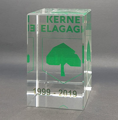 cube en verre couleur presse papier en verre 8 cm