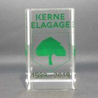 trophée cube imprimé en couleur 8 cm