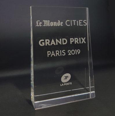trophée verre optique trapèze awards 2019 le monde