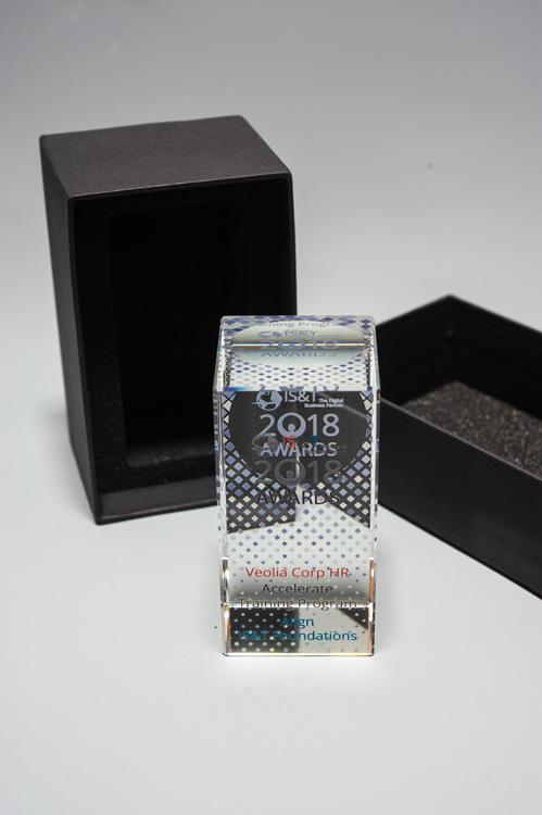 cube verre optique impression couleur recto et verso