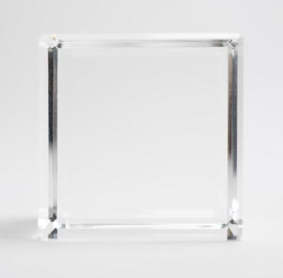 presse papier cube verre optique 5 cm
