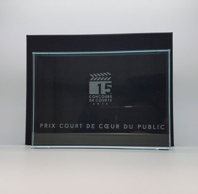 trophée plaque rectangle gravé