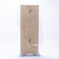 trophée bois et métal avec plexiglass oval à personnaliser