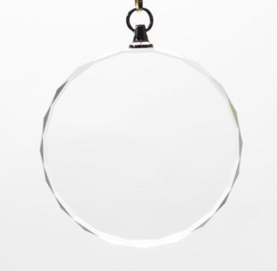 médaille en verre gravée diamètre 55 mm