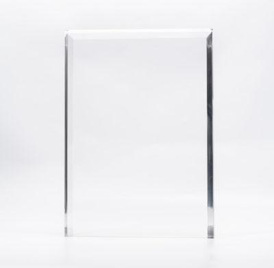 trophée plexiglass rectangle sans socle avec gravure laser ou impression couleur