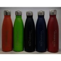 bouteille isotherme double paroi gravure laser d'un logo