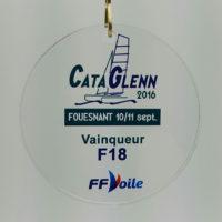 médaille plexiglass impression couleur 70 mm